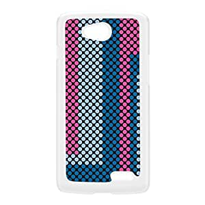 Digital Dots - Pink White Hard Plastic Case for LG L70 by Gadget Glamour + FREE Crystal Clear Screen Protector