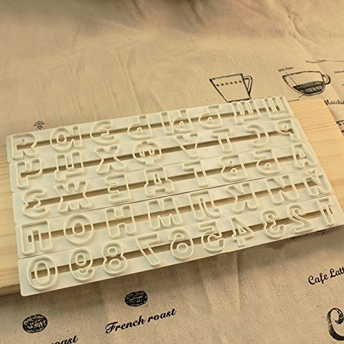 (Katoot@ Russian Letter Plastic Cookies Cutter Fondant Mold Alphabets Embossed Sugarcraft Mould DIY Cake Baking Decorating Tools 5Pcs/Set)