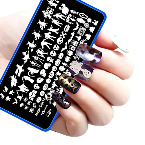 [AutumnFall® Halloween DIY Nail Art Image Stamp Stamping Plates Manicure Template (# 2)] (Halloween Accessories)