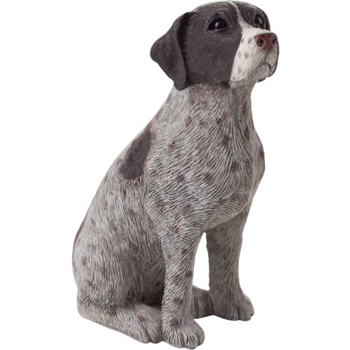 Sandicast Small Size German Shorthaired Pointer Sculpture, Sitting