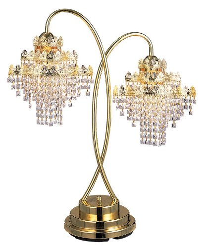 DDEH 32''h Luxury looking Decorative Glass Metal Table Lamp - 32' High Table Lamp