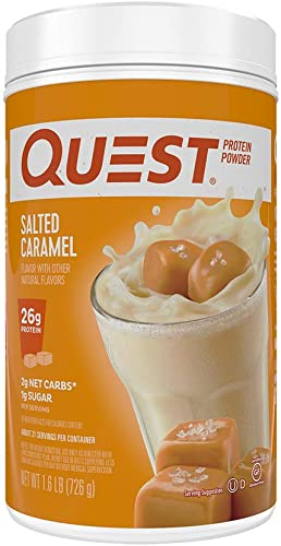 Quest Nutrition Salted Caramel Protein Powder, High Protein, Low Carb, Gluten Free, Soy Free, 25.6 Ounce Pack of 1