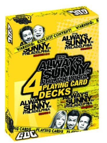 It's Always Sunny in Philadelphia Playing Cards: 4-Pack