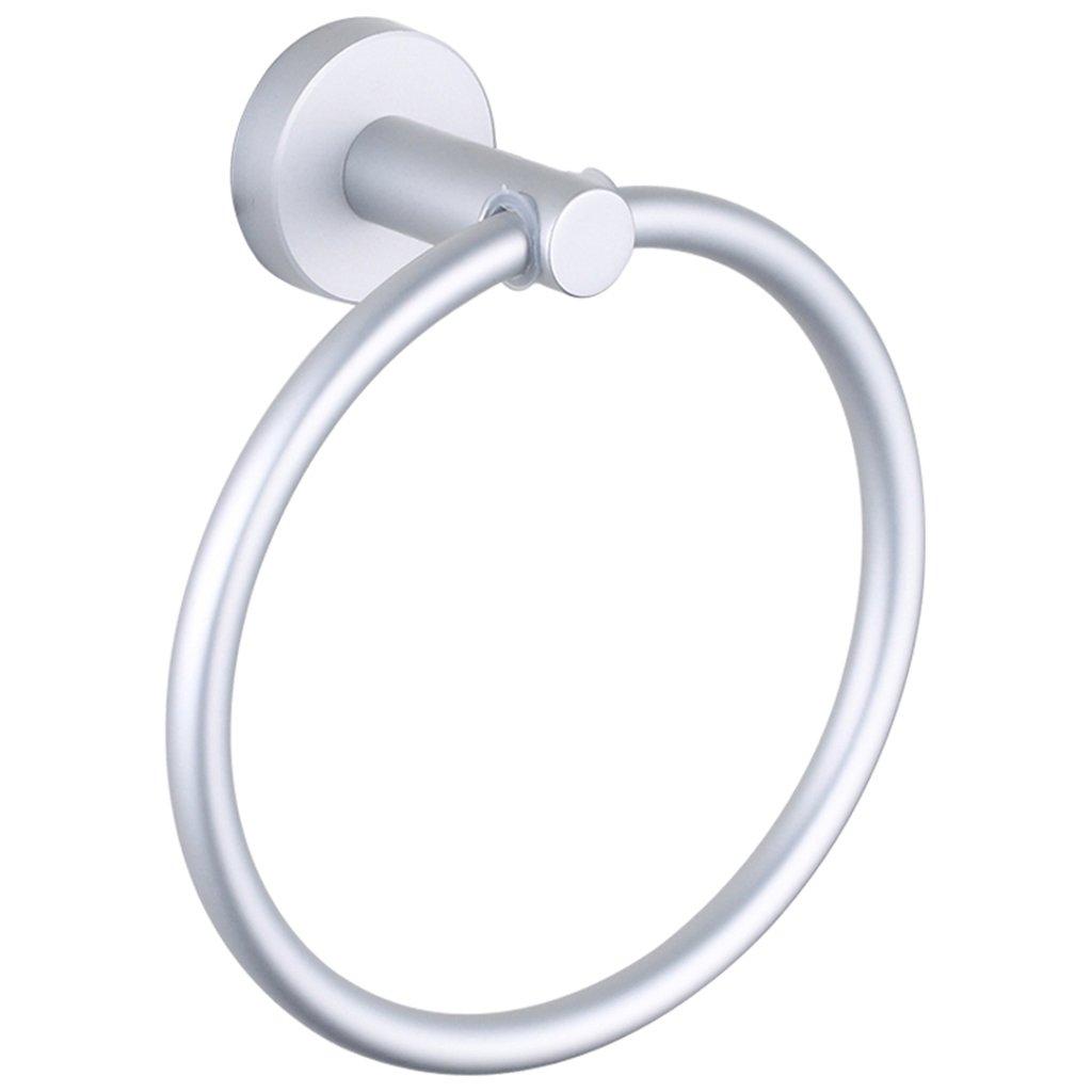 Towel Ring Aluminum-magnesium Alloy Bathroom Towel Rack, Diameter 16CM