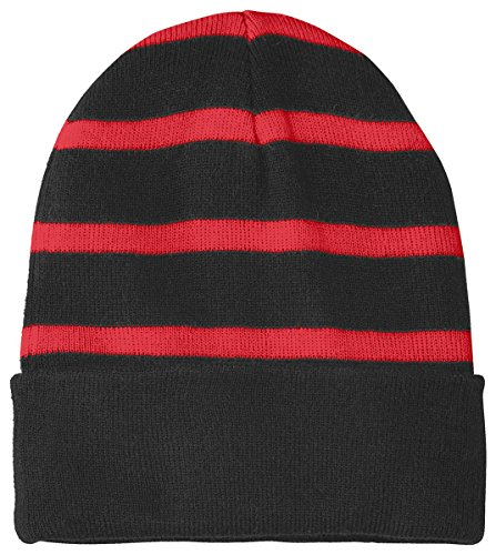 STC31 Red Black Rayas True tek con sólida Banda de Gorro Sport g04nTaa
