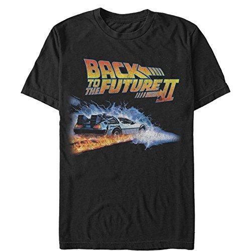 Fifth Sun Back to The Future Men's Part 2 Electric Delorean Black T-Shirt ()
