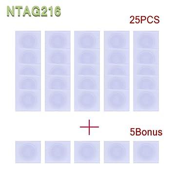 Amazon.com: 30 pegatinas NTAG216 NFC, etiqueta adhesiva ...
