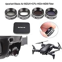 DZT1968 4pcs/Set Ultra-Light MCUV Cpl ND4 ND8 Multifunctional Lens Filter For DJI Mavic Air Drone