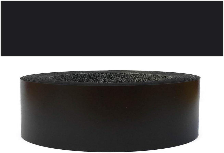Mprofi MT/® 20m rollo Cantoneras laminadas melamina para rebordes con Greve Negro Liso 45 mm