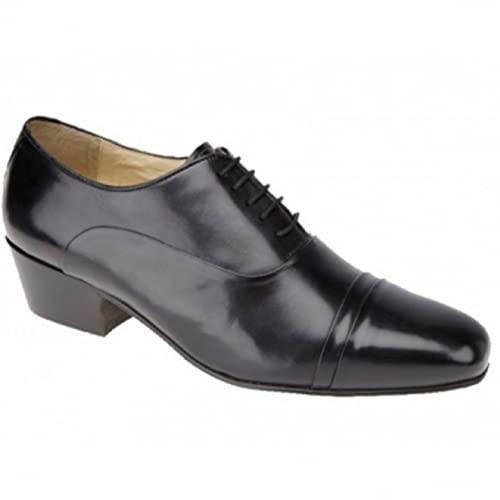 Mens Montecatini Black Leather Laced Cuban Heel Shoes Sizes 6 7 8 9 10 11  Amazoncouk Shoes  Bags