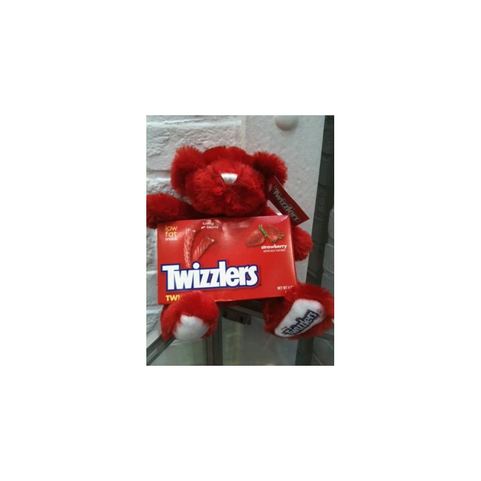Twizzler Red Plush Teddy Bear (with candy included)