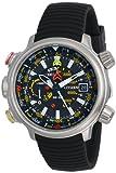 Citizen Men's BN5030-06E Altichron Eco-Drive Titanium Black Rubber Strap Watch, Watch Central