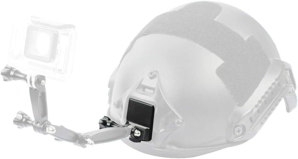 Aluminum Mount BGNING Upgrade Aluminum Alloy Fixed Mount Helmet for 2//3//3+//4//5 Action Camera Helmet Fixed Adapter