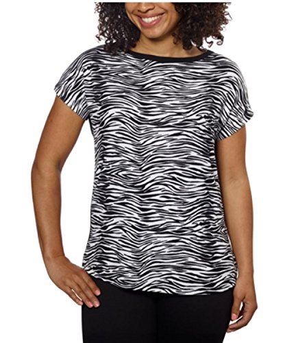 Ellen Tracy Women's Dolman Top Blouse (3X, Zebra)