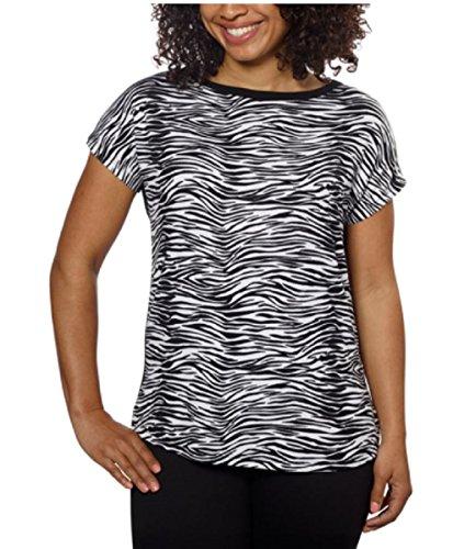 Ellen Tracy Women's Dolman Top Blouse (3X, Zebra)