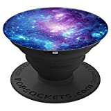 Purple Blue Galaxy Space Nebula PopSockets Grip and Stand for Phones and Tablets