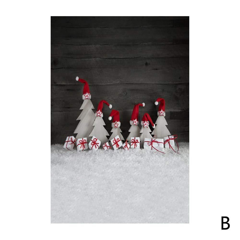 kingko /3x5FT Weihnachts Hintergr/ünde Fotografie Winter Wooden Glitzer Fotohintergrund Weihnachten Christmas Photoshooting Backdrop Backdrops Schneemann Vinyl Foto D