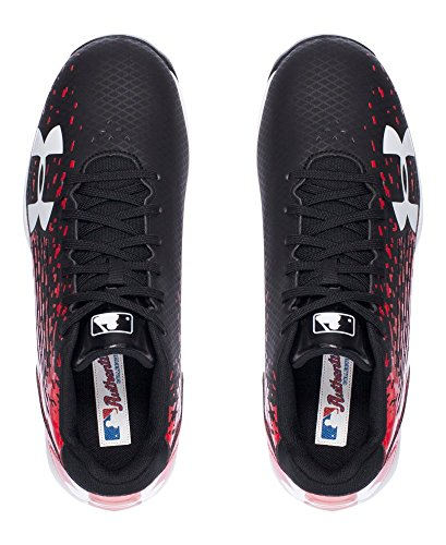 Under Armour  Boys' UA Leadoff Low RM Jr. Baseball Cleats 6 Big Kid M Black