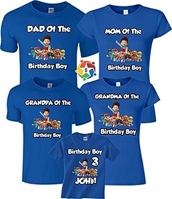 Birthday Boy Birthday Girl Custom Funny Character Birthday Custom Matching Shirts