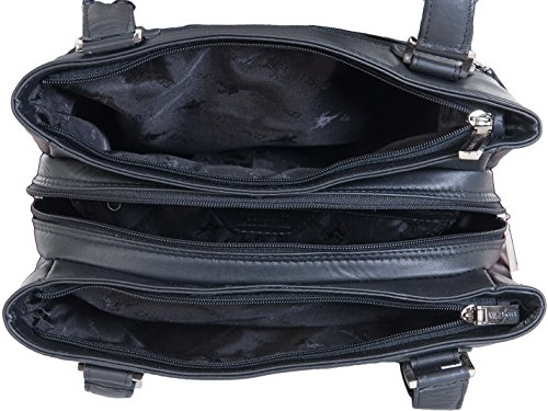 Clara Section 3 Leather Real Shoulder Visconti 19476 Black Bag RYOq5g5w