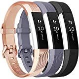 Vancle Replacement Bands Compatible with Fitbit Alta HR and Fitbit Alta (3 Pack), Newest Sport Wristbands with Secure Metal Buckle for Fitbit Alta HR/Fitbit Alta