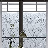 Coavas Window Film Stained Glass Static Cling Window Film Stained Glass Decorative Window Film No Glue Window Cling for Home and Kitchen Glass,35-inch by 78.7-inch