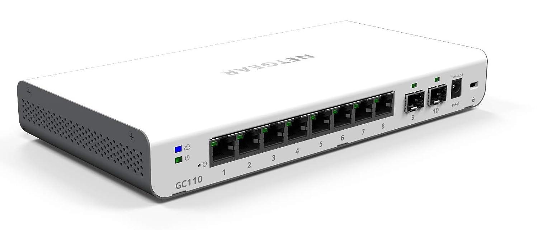 2 ports SFP 1 Go I Budget PoE 62W I Installation Management et Monitoring via Insight App Gratuite D/éploiement NETGEAR GC110P-100PES Switch Smart Cloud 8 ports PoE 1 Go