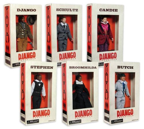 "Django Unchained Series 1 8"" Action Figure Assorted Case Of 10"