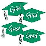 Green Grad Hat - Best is Yet to Come - Graduation Hat Decorations DIY Green 2018 Graduation Party Essentials - Set of 20