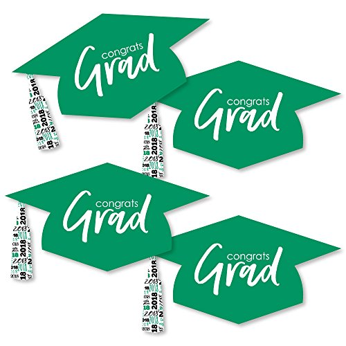 (Green Grad Hat - Best is Yet to Come - Graduation Hat Decorations DIY Green 2018 Graduation Party Essentials - Set of)