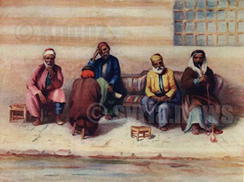 Group of Syrian, The end of The Nineteenth Century, by Margret Thomas,Painting on Canvas Without Frame (X-Large)