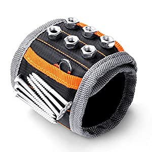 HORUSDY Magnetic Wristband ,with Strong Magnets for Holding Screws, Nails, Drilling Bits, of The Best Christmas Gifts Tools for Men