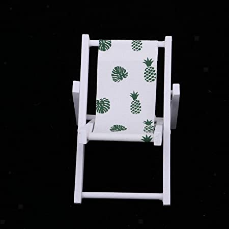 6th Dolls House Miniature Furniture Wood Chair Garden Lawn Lounge Armchair