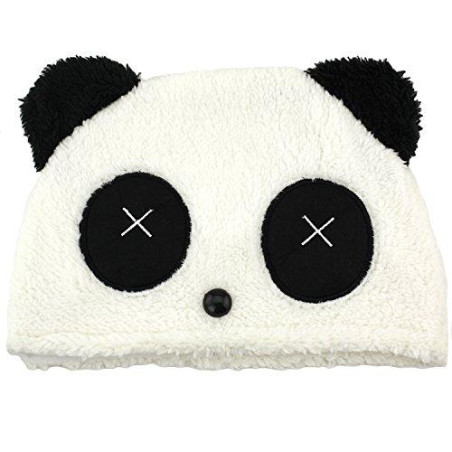 Panda Fuzzy Furry Cute Plush Animal Ski Hat Beanie Headwear - Dead Bear (How To Wear A Santa Hat)