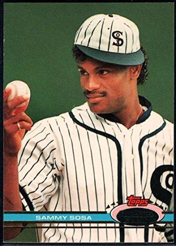 (1991 Stadium Club Baseball #6 Sammy Sosa Chicago White Sox)