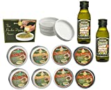 Dean Jacob's Bread Dipping Tins, Dipping Saucers with Mantova Italian Golden Extra Virgin Olive Oil - 14 Pieces