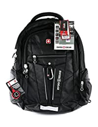 """Swiss Gear - Laptop Backpack With Integrated Tablet Compartment and Fits Most 17.3"""" Laptops - Black"""