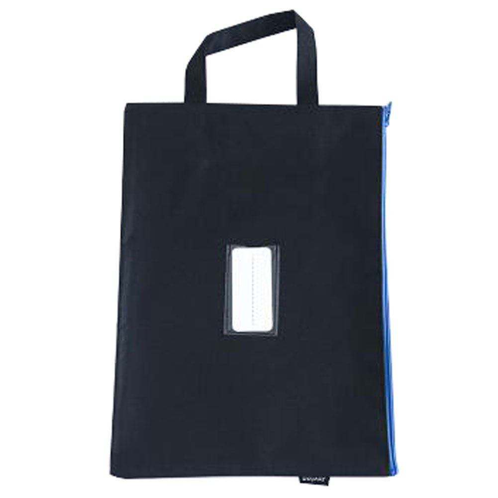 Cute File Bag Stationery Bag Pouch File Envelope for Office/School Supplies, Black