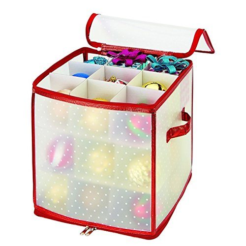 simplify-red-27-count-ornament-organizer