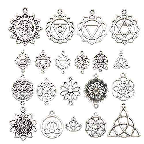 iloveDIYbeads 40pcs Craft Supplies Antique Silver...