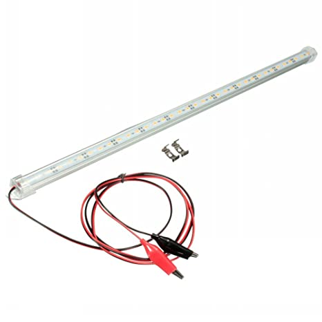 mfpower 12V 30cm barra de luces LED 5630SMD barra de luz interior van coche caravana Fish