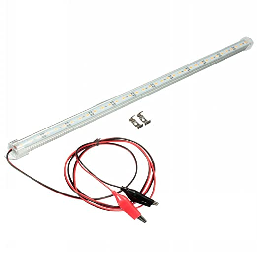 2 opinioni per Mfpower 12V 30cm trasparente LED 5630SMD luci interne a LED per auto yacht