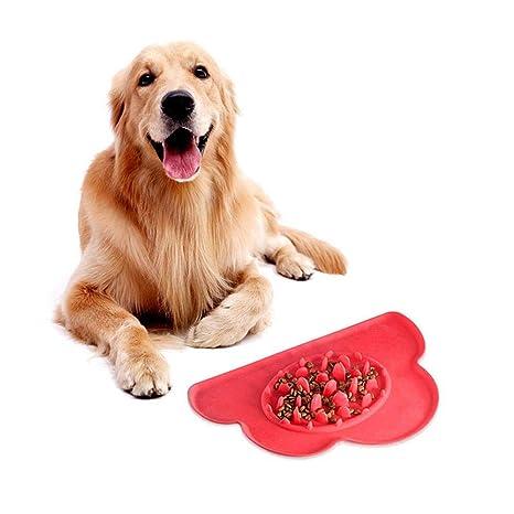 leegoal - Cuencos de Comida para Perros y Gatos para Comer Lentamente y Perder Peso,