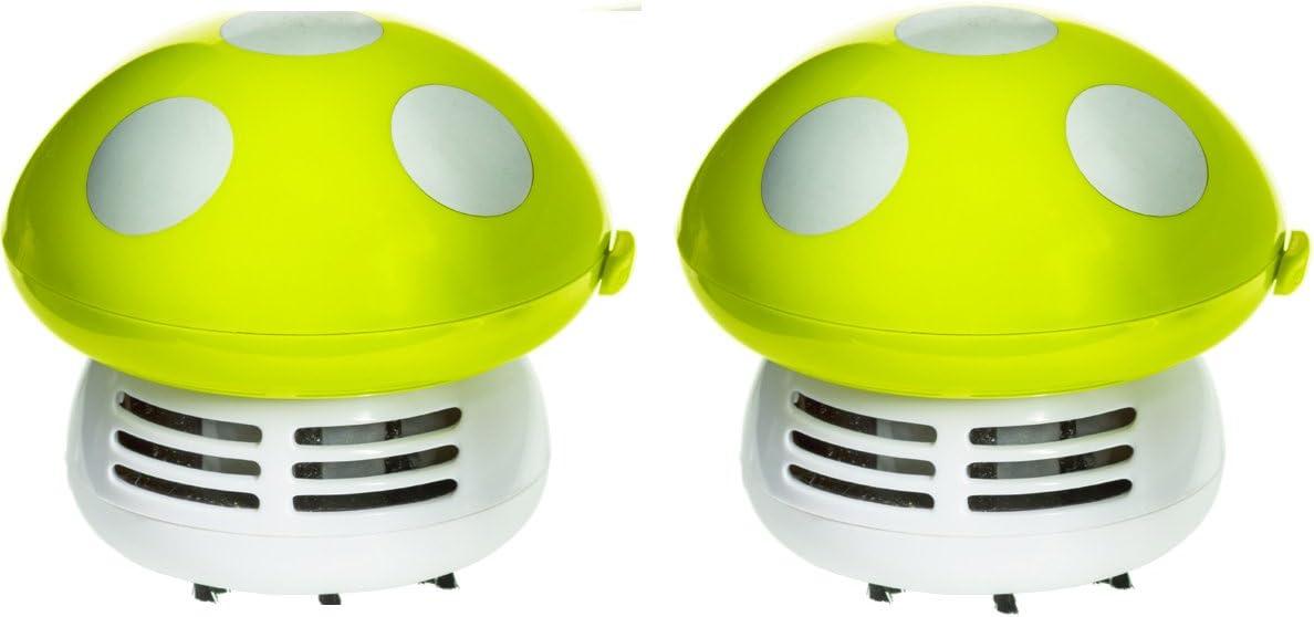 Imperial Home Cute Mushroom Handheld Vacuum - Crumbs Dust Mini Vacuum or Desk Vacuum (2, Green)