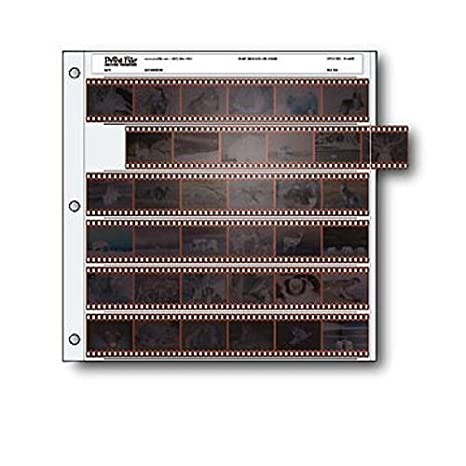 Archival 35mm Size Negative Pages Holds Six Strips of Six Frames, Pack of 25 Print File 010-0050 FSPF356HB25