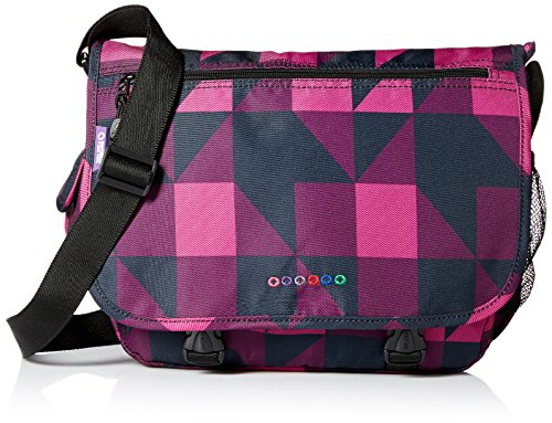 J World New York Terry Messenger Bag, Block Pink, One Size (Lined Messenger Fully Bag)