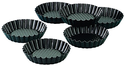 Zenker Non-Stick Carbon Steel Mini Tart Pans, 4-Inch Diameter, Set