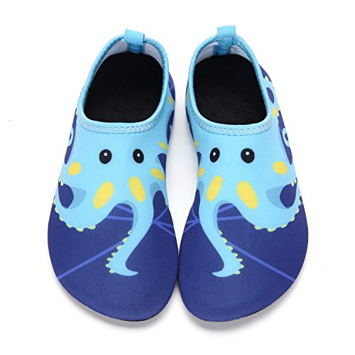 81af4f730bf4 DKRUCAK Girls Boys Water Shoes Lightweight Quick-Dry Barefoot Aqua Socks  Shoes for Lawn Pool Dance (8-8.5 M US Toddler  24-25 EU