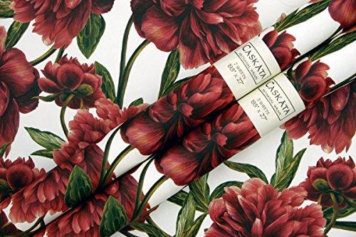 Caskata Studio Rolled Gift Wrap, Peonies (CAS14045) (Peony Card Flat)