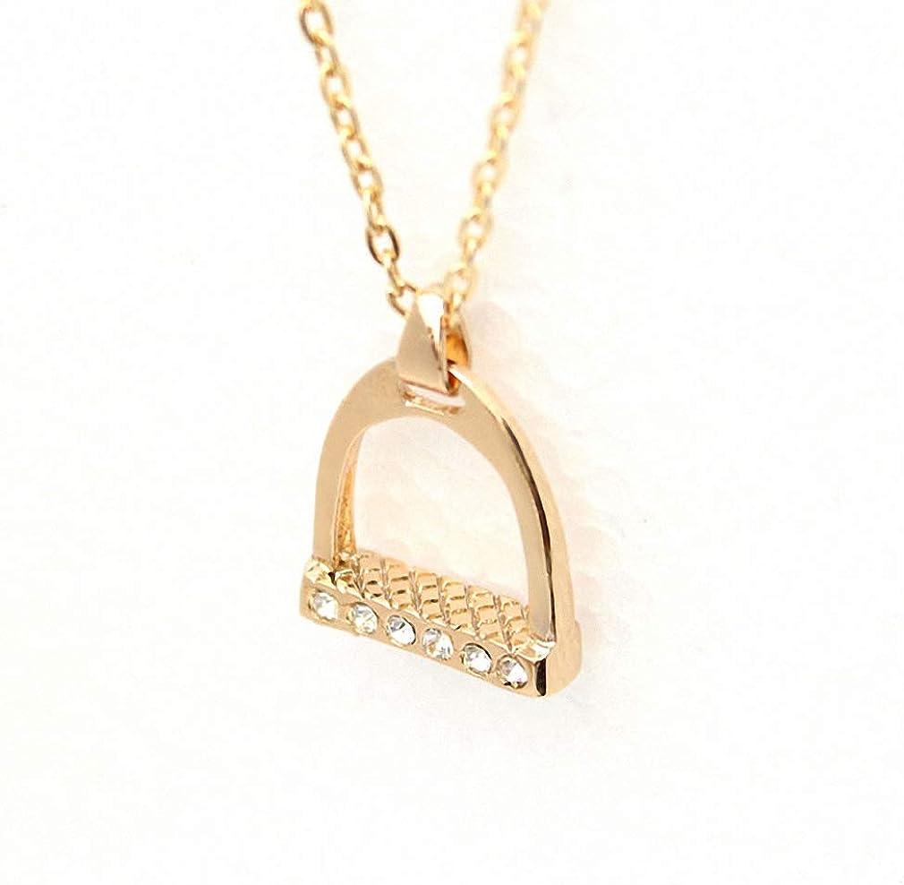Xileg Cute Horse Necklaces Horse Stirrup Pendant Necklace Gift